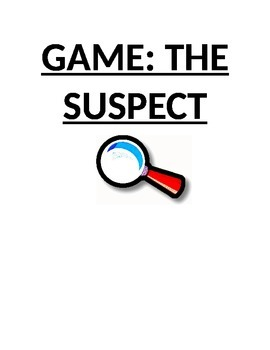 Review Game: The Suspect