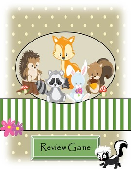 Test Review Game - Woodland Animals Theme