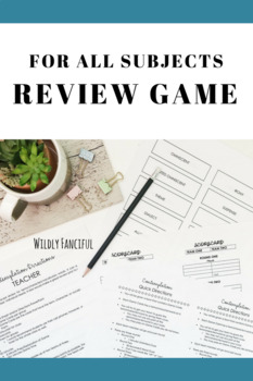 Test Prep Review Game for Any Subject: Quick, Easy, and Fun