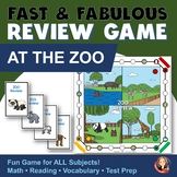 Review Game for Any Subject with Zoo Theme