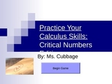 Review Game for Critical Numbers in Calc