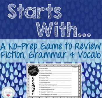 Review Game for Grammar, Fiction, Nonfiction, Vocab, Poetry
