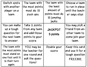 Review Game for any subject