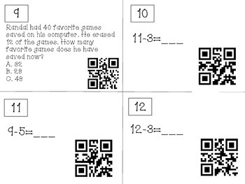 QR Code Review Game for Chapter 5 in Go Math