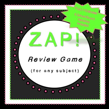 Review Games-EDITABLE!