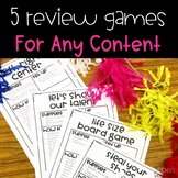 Review Games for Any Subject