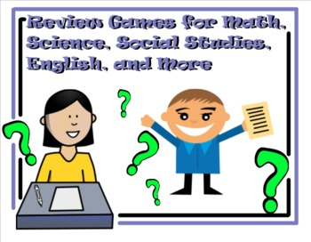 Review Games for Math, Science, Social Studies, English an