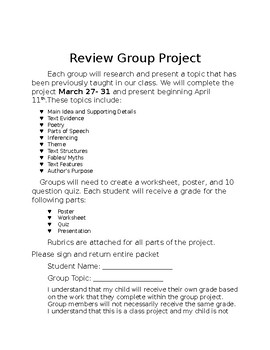 Review Group Project