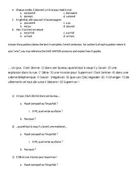 Review Guide: passé composé vs. imparfait