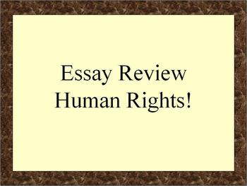 global regents thematic essay human rights