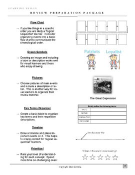 Review Ideas - Learning How to Study - Works for Any Class!