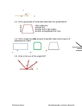 Review-Identifying angles & and lines