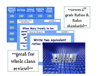 Review Jeopardy - Rates & Ratios