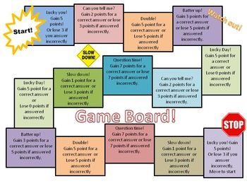Review  Material using a Board Game!