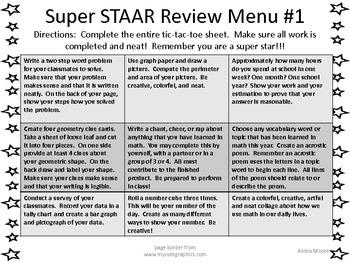 Review Menu #1