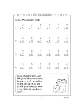 Review Multiplication Facts to 12