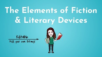 Review Notes & Quiz: The Elements of Fiction & Literary Devices