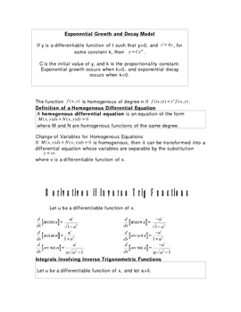 Review of Logarithmic and Rational Functions for Calculus