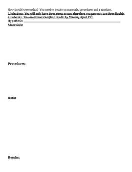 Review Of Scientific Method-Dissolving Peeps