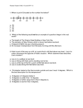 Review Packet 4 - Integers, GCF, LCM, Ratios and Proportions, Percents