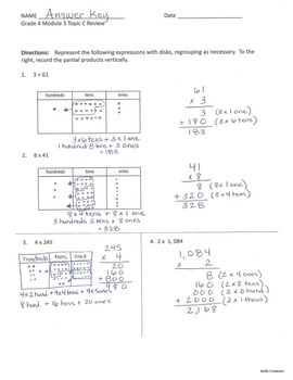 Review Packet Bundle!  Grade 4 Math Module 3: Reviews for All Topics!