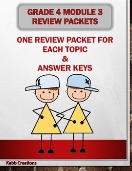 Review Packet Bundle!  Grade 4 Math Module 3: Reviews for