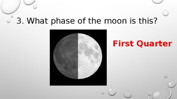 Review Phases of the moon powerpoint