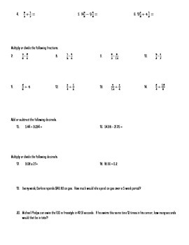 Review Problem Packet