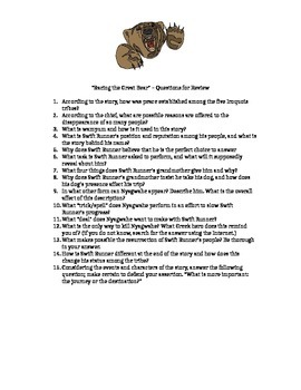 """Review Questions for """"Racing the Great Bear"""""""