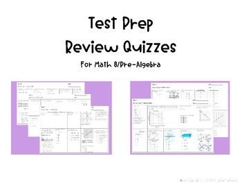 Review Quizzes for Math 8 EOG