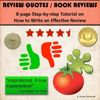 Review Quotes / Book Reviews - 8 page, step-by-step, how t