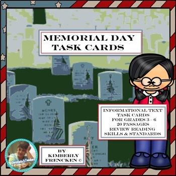 Memorial Day Task Cards: Reading Informational Text