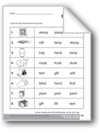 Review: Reading Words with Ending Consonant Blends