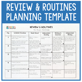 Review & Routines Planning Template (Benchmark Advance)