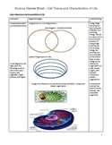 Review Sheet - Cell Theory and Characteristics of Life