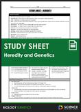 Study Sheet - Genetics and Heredity