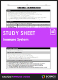 Study Sheet - Immune System and Immunology (HS-LS1)