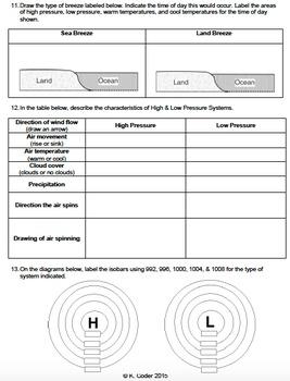Review Sheet - Weather Factors *EDITABLE*