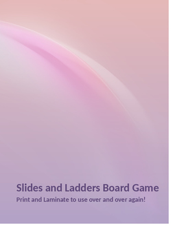 Review Slides and Ladders Board Game