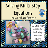 Solving Equations Review Paper Chain Activity