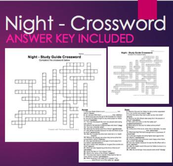 Review Study Guide Crossword Night by Elie Wiesel