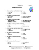 RHIN0 REVIEW  2 | Language | Worksheets | NO PREP | Back to School - Gr 4