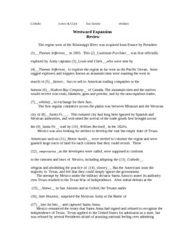 Review - Westward Expansion