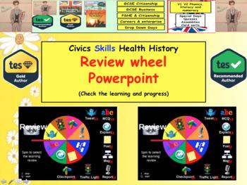 Review Wheel Interactive PowerPoint Fun plenary