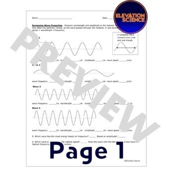 Review Worksheet: Transverse & Longitudinal (sound) Waves