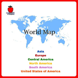 Review World Map Skills and Basic Geography