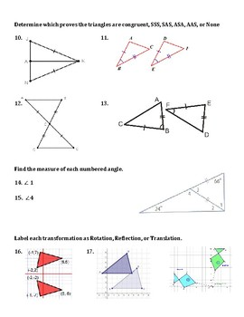Review and Test for Triangles