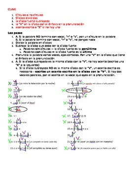 "Accents - ""show your work"" method - practice worksheet #1"
