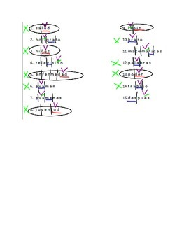 "Accents - ""show your work"" method - practice worksheet #2"