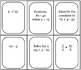 Review card game with fractions, equations, & order of operations